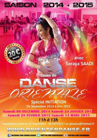 Cours de Danse Orientale à Lyon, SAISON 2014/2015