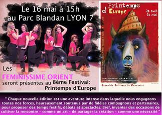 """Féminissime Orient, au """"Printemps d'Europe"""" sur Lyon 7ème"""