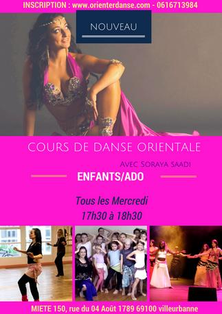 Nouveau ! Cours Enfants/Ado de danse orientale sur Villeurbanne en Septembre 2018