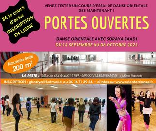 PORTES OUVERTES Cours de danse orientale à partir du 14 Septembre 2021 - Réserve ton cours d'essai !