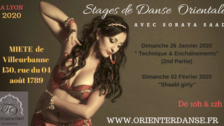 PROCHAIN STAGE de danse orientale à LYON - 2020 avec Soraya 0616713984