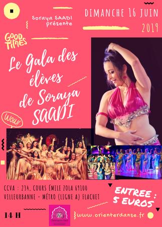 GALA DE FIN D'ANNEE DES ELEVES DE SORAYA SAADI / Dimanche 16 Juin 14h