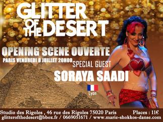 Soraya Saadi, au Festival Glitter of the desert - Paris