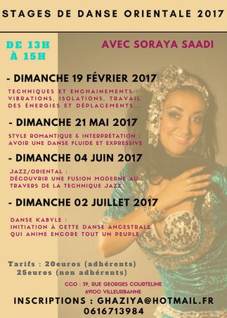 Les Stages 2017 à LYON avec Soraya 0616713984