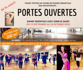 Portes ouvertes Cours de danse orientale du 15 Septembre au 14 Octobre 2020 - Cours à 5€ pour tester