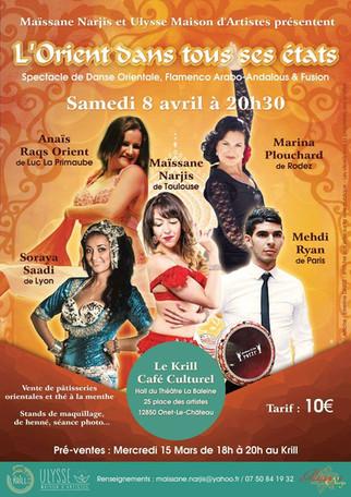 Soraya Saadi, invitée sur scène, à Onet-le-château, par Maissane Narjis