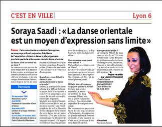 Soraya Saadi sur Le Progrès, C'est en ville