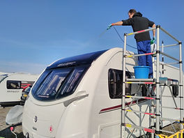 Swift Caravan valet using Teletower plat
