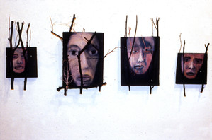 Four Faces with Branches
