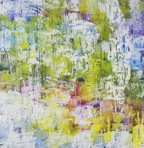 Encaustic #11/06 - Green Landscape