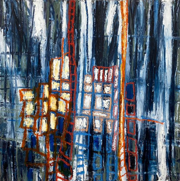 Covid Windows, 7-27-20, with a Nod to Philip Guston