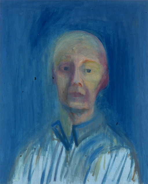 Self Portrait, Blue Work Shirt