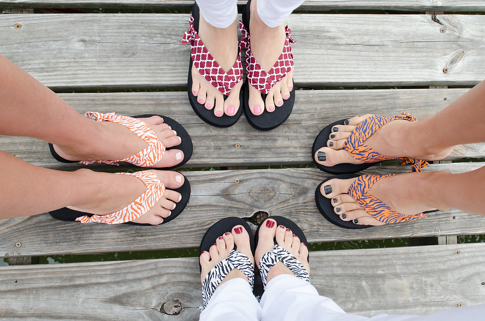 Bella K Wedge Flip Flops