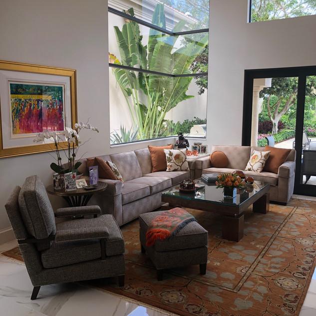 7047 Sofa & Loveseat + 9810 Chair & Matching Ottoman