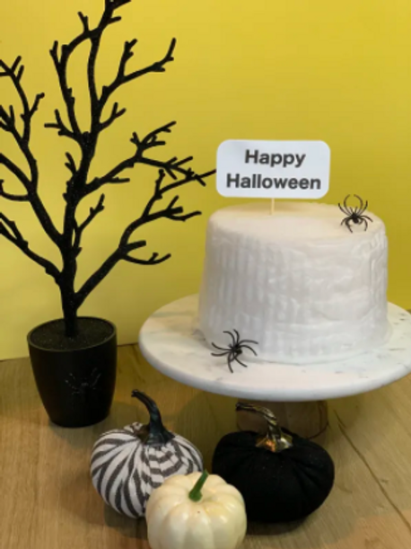Spider's Marshmallow Cotton Candy Cake