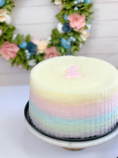 Easter Cotton Candy Cake