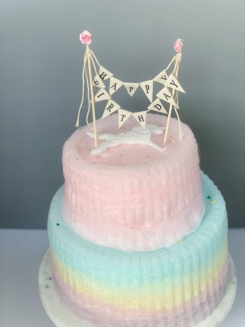 Two Tier Rainbow Cake