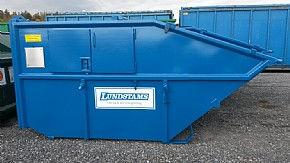 Direkttömmande container