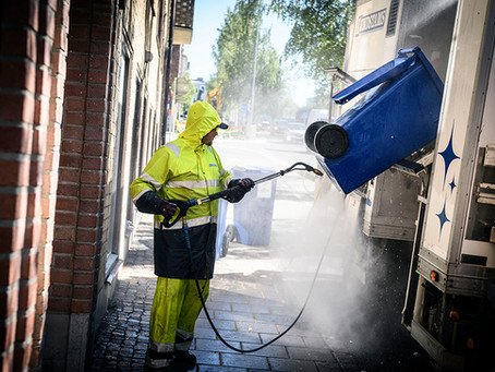 Vi tvättar dina kärl.