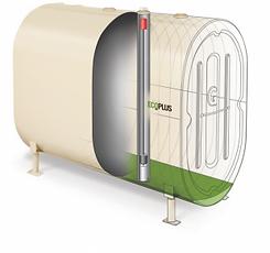 Reservoir mazout avec système double fond