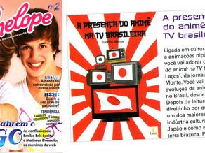 """""""A Presença do Animê na TV brasileira"""" na revista Penélope"""