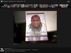 Livro de André Marinho no twitter do jogador Neymar