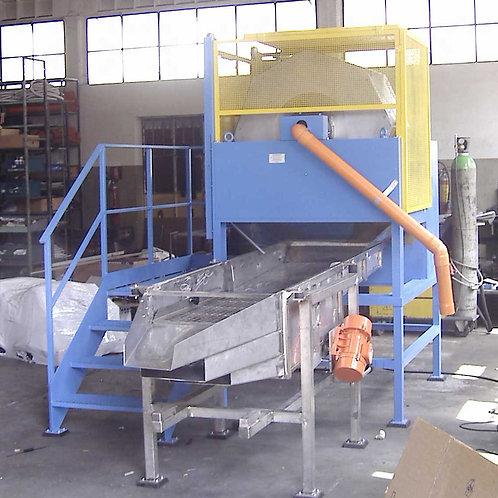 Deflashing machine, máquina criogénica, machine cryogénique