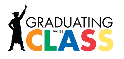 Graduating with Class logo, transparent