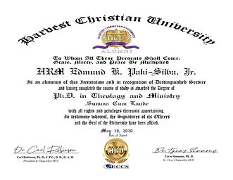 HRM Edmund K. Paki-Silva Theology &  Min