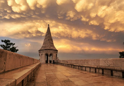 Mammatus felhők Budapest felett