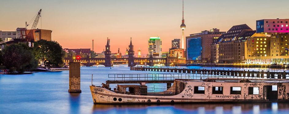 Berlin Night Skyline Next Step Relocation