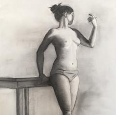 Semi-nude figure