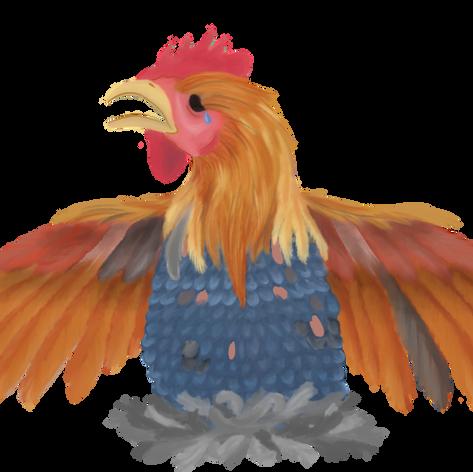 Rooster Spot Art
