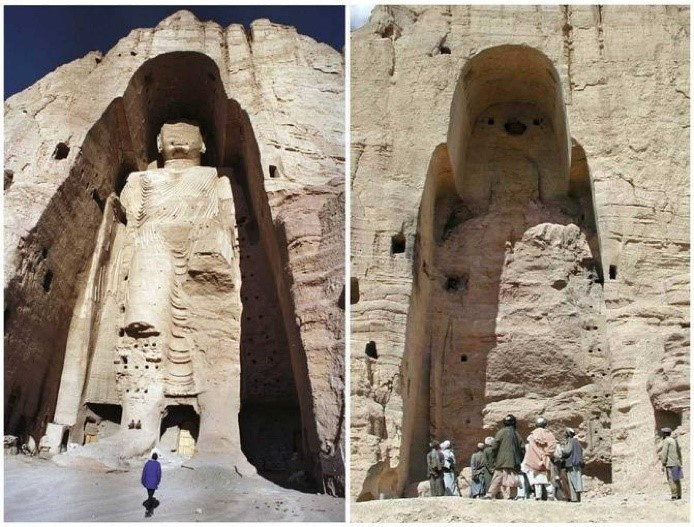 Ilustración 5: rtve.es, 2011. Budas de Bamiyán antes y después.