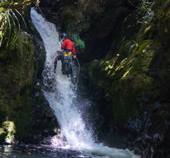 Abseil in Shift Canyon