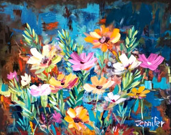 Leonard and Rosie's poppies - SOLD
