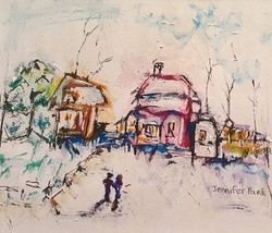 Snow town - SOLD