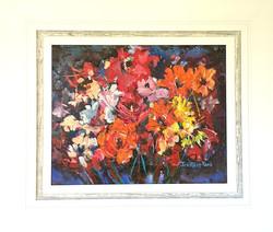 Red orange flowers