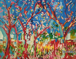 Red trees - SOLD