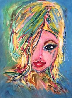 Blue girl - SOLD