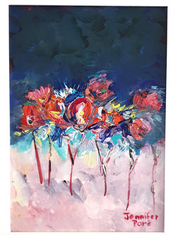 Dreamy abstract flowers