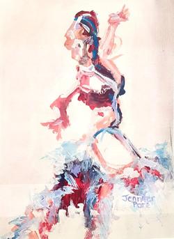 Abstract Spanish dancer