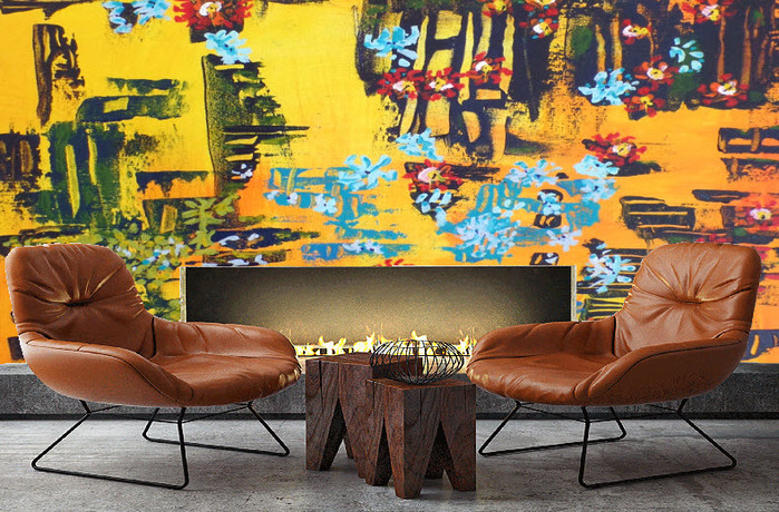 Abstract wallpaper in lounge.jpg