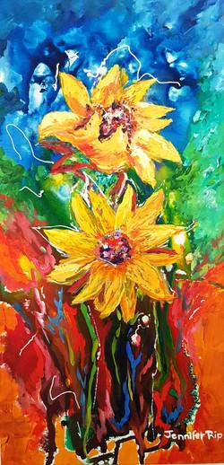 Sun flowers - SOLD