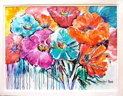Sparkling Poppies - SOLD