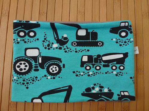 Halswärmer mit Baufahrzeugen. ca. KU 47-50
