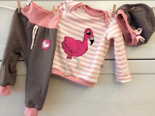 3er FlamingoSet, Grösse 68/74