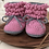 Thumbnail: BabySchühchen •candy& steingrau• (Sohlenlänge 11cm)