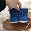 Thumbnail: BabySchühchen •königsblau& bambus• (Sohlenlänge 10cm)