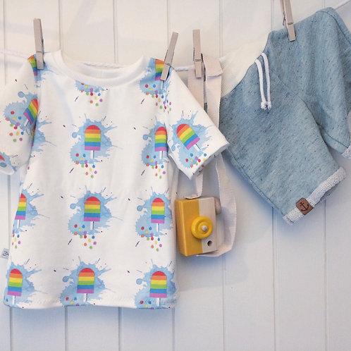 "T-shirt ""rainbowpopsicle"" Gr. 110"